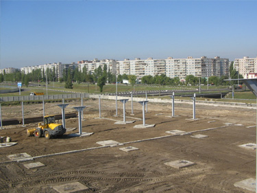 готовый фундамент для монтажа металлоконструкций